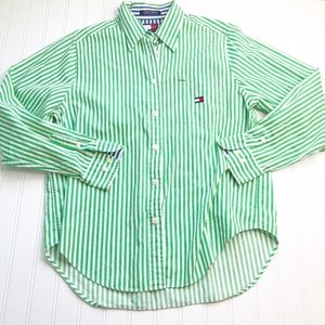 Tommy Hilfiger size 10 Button Down Blouse